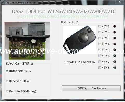 Powerful Function Automotive Diagnostic Software for Benz DAS2 Immobilizer Remote Calculator
