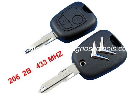 Citroen C2 Remote Key 433MHZ, 2 Button Citroen Auto Remote Key Blanks