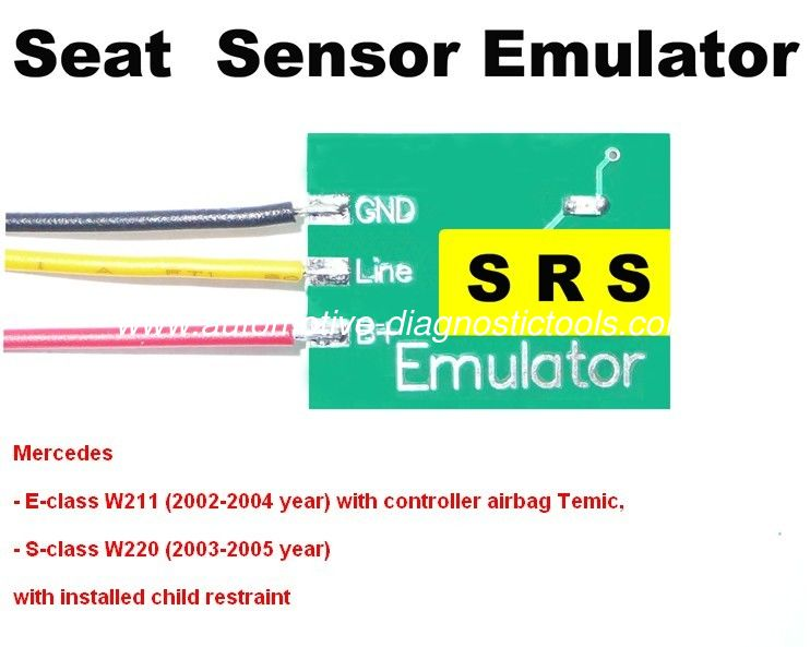 Professional SRS1 Mercedes Seat Sensor Emulator , Mercedes Car Repair Troubleshooting Tool